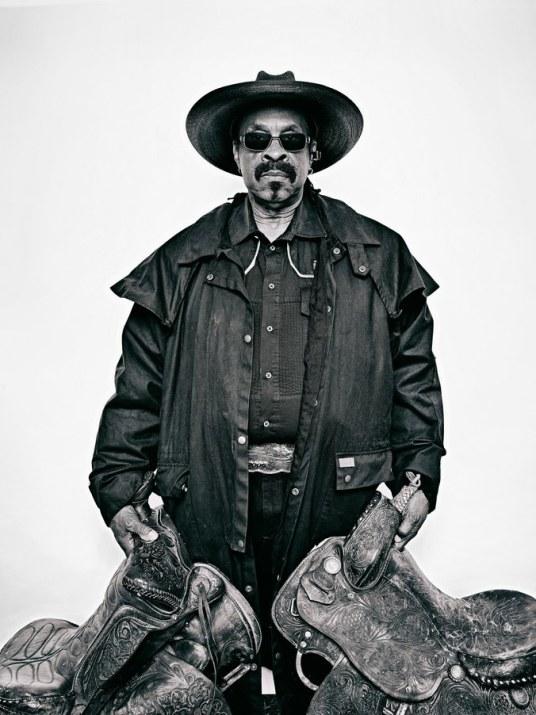 Brad Trent, Arthur 'J.R. Fulmore from The Federation of Black Cowboys -2016.