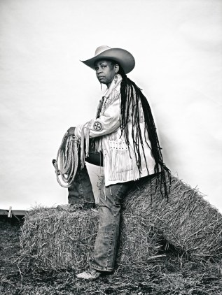 Brad Trent, 'Mama' Kesha Morse from The Federation of Black Cowboys - 2016.