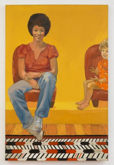 Eva the Babysitter, de Emma Amos (1973)