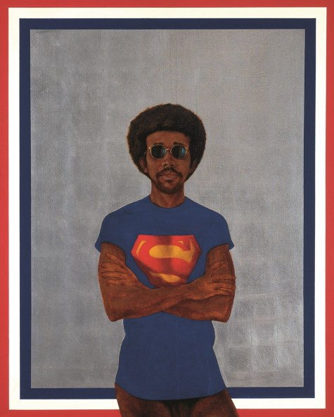 Icon for My Man Superman (Superman Never Saved any Black People – Bobby Seale), de Barkley Hendricks (1969)