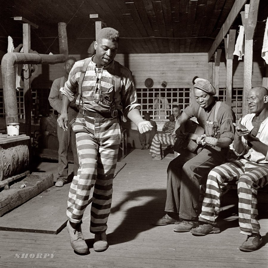 May 1941. Music-making in the convict camp at Greene County, Georgia.