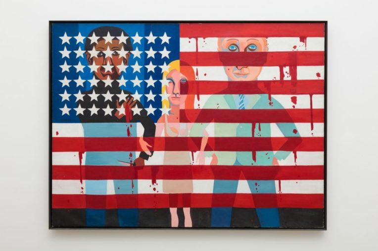 The Flag Is Bleeding, de Faith Ringgold (1967)