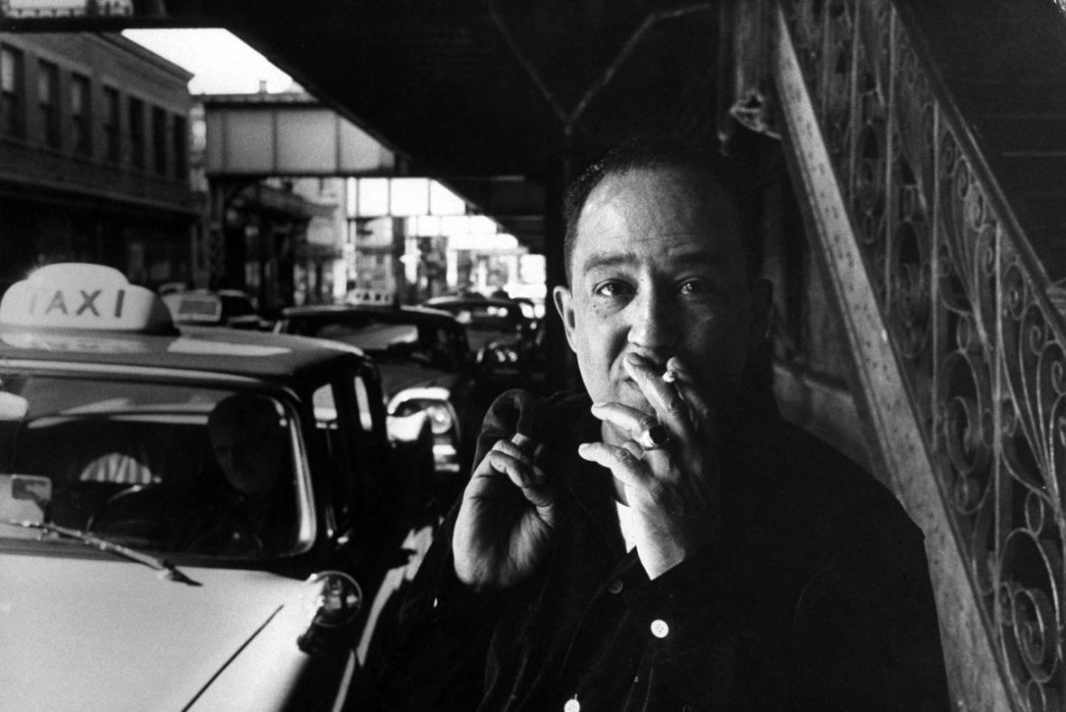 Langston Hughes in Harlem, June, 1958.Photograph by Robert W. Kelley