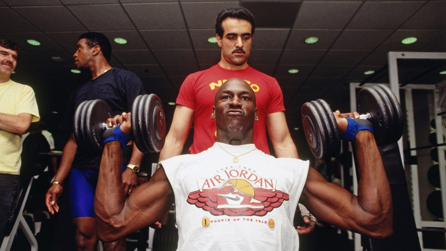 Michael Jordan works out with Tim Grover in Chicago, circa 1991.Andrew D. Bernstein