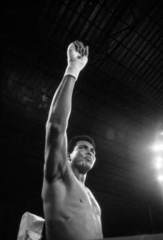 ZAIRE. Kinshasa. Kinshasa sports stadium. 1974. Muhammad ALI during his fight versus George FOREMAN. World Heavyweight Boxing Championship between American fighters Muhammad ALI and George FOREMAN.