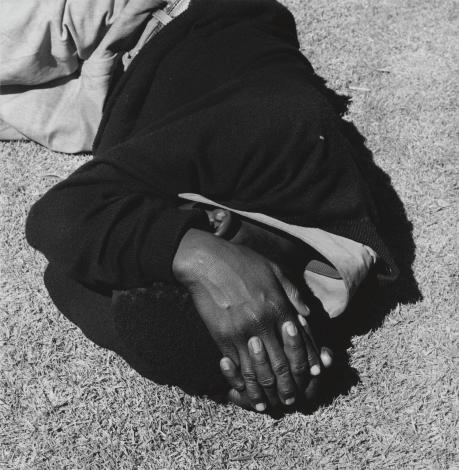 Man Sleeping. Joubert Park, Johannesburg 1975, printed 2013 David Goldblatt born 1930 Purchased using funds provided by the Africa Acquisitions Committee 2013 http://www.tate.org.uk/art/work/P80499