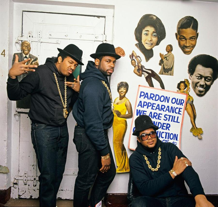 Run DMC backstage gold chains NEW YORK CITY, 1987